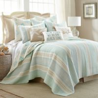 Levtex Home Kapalua Bay Reversible Twin Quilt in Blue/Taupe