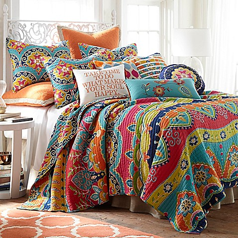 Levtex Home Elaine Reversible Quilt Set Collection Bed