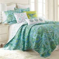 Levtex Home Lahai Reversible King Quilt Set in Teal