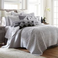 Levtex Home Nia Reversible Twin Quilt Set in Grey
