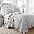 Levtex Home Penelope Stripe King Quilt Set in Grey