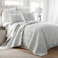 Levtex Home Penelope Stripe Twin Quilt Set in Grey