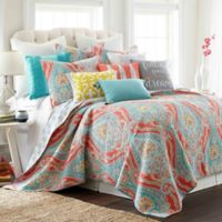 Levtex Home Sherie Reversible King Quilt Set in Coral/Blue