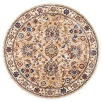 Nourison Reseda Floral 5' Round Area Rug in Natural