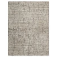 Nourison Ellora 5'6 x 7'5 Hand-Knotted Area Rug in Stone