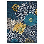 Nourison Passion 5'3 x 7'3 Area Rug in Blue