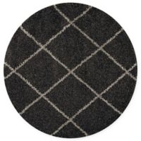 Nourison Brisbane 4' Round Loomed Area Rug in Charcoal