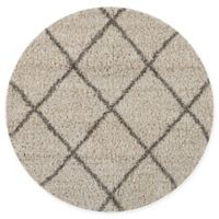 Nourison Brisbane 5' Round Loomed Area Rug in Cream