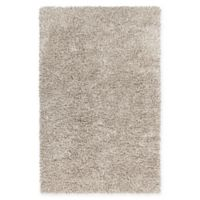 Chandra Rugs Eleanor 7'9 x 10'6 Hand Woven Shag Area Rug in White