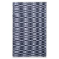 Chandra Rugs Tanya 5' x 7'6 Area Rug in Navy/White