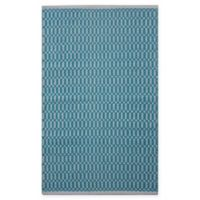 Chandra Rugs Tanya 5' x 7'6 Area Rug in Teal/White