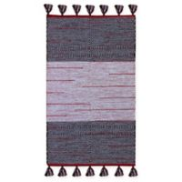 Chandra Rugs Tanya 5' x 7'6 Area Rug in Red/Black