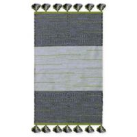 Chandra Rugs Tanya 7'9 x 10'6 Area Rug in Green/Black
