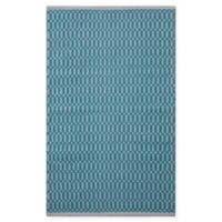 Chandra Rugs Tanya 7'9 x 10'6 Area Rug om Teal/White