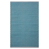 Chandra Rugs Tanya 9' x 13' Area Rug in Teal/White