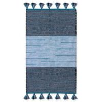 Chandra Rugs Tanya 9' x 13' Area Rug in Blue/Black
