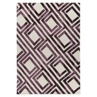 Chandra Rugs Elvo Hand-Tufted 5' x 7'6 Area Rug in Purple/White