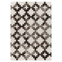 Chandra Rugs Elvo 5' x 7'6 Hand-Tufted Area Rug in Brown/White