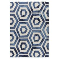 Chandra Rugs Elvo 7'9 x 10'6 Hand-Tufted Area Rug in Blue/White