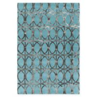Chandra Rugs Fran 7'9 x 10'6 Hand-Tufted Area Rug in Teal/Charcoal
