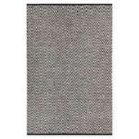 Chandra Rugs Sora 5' x 7'6 Handwoven Area Rug in Grey/Black
