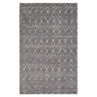 Chandra Rugs Catalina Hand-Knotted 7'9 x 10'6 Area Rug in Dark Grey