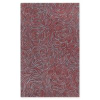 Chandra Rugs Leia 5' x 7'6 Area Rug in Red/Grey
