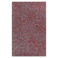 Chandra Rugs Leia 7'9 x 10'6 Area Rug in Red/Grey