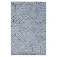Chandra Rugs Genna Hand-Knotted 5' x 7'6 Area Rug in Blue