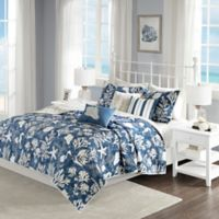 Madison Park Cape Cod Reversible King/California King Coverlet Set in Blue