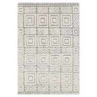 Chandra Rugs Genna Hand-Knotted 7'9 x 10'6 Area Rug in White