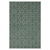Chandra Rugs Winnie Geometric Link 5' x 7'6 Handcrafted Area Rug in Green