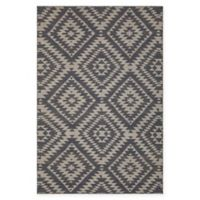 Chandra Rugs Winnie Geometric Diamond 5' x 7'6 Handcrafted Area Rug in Grey/White
