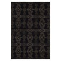 Chandra Rugs Winnie Geometric 5' x 7'6 Handcrafted Area Rug in Black/Grey