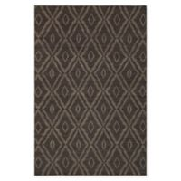 Chandra Rugs Winnie Abstract Chequer 5' x 7'6 Handcrafted Area Rug in Brown