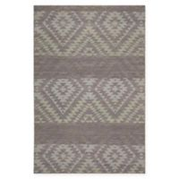 Chandra Rugs Winnie Diamond Stripe 5' x 7'6 Handcrafted Area Rug in Purple/Grey