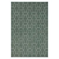 Chandra Rugs Winnie Geometric Link 7'9 x 10'6 Handcrafted Area Rug in Green