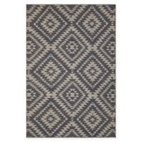 Chandra Rugs Winnie Geometric Diamond 7'9 x 10'6 Handcrafted Area Rug in Grey/White