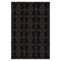 Chandra Rugs Winnie Geometric 7'9 x 10'6 Handcrafted Area Rug in Black/Grey