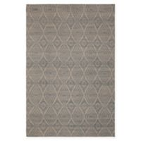 Chandra Rugs Winnie Geometric Circle 7'9 x 10'6 Handcrafted Area Rug in Grey/Silver
