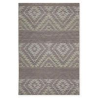 Chandra Rugs Winnie Diamond Stripe 7'9 x 10'6 Handcrafted Area Rug in Purple/Grey