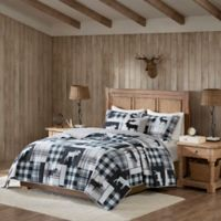 Woolrich® Sweetwater Full/Queen Reversible Quilt Set in Black/Grey