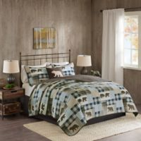 Woolrich® Twin Falls Reversible Full/Queen Quilt Set in Brown/Blue