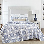 Coastal Living Indigo Coastal Medallion Full/Queen Quilt Set in Blue