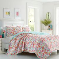 Poppy & Fritz Tilly Floral Full/Queen Quilt Set in Pink