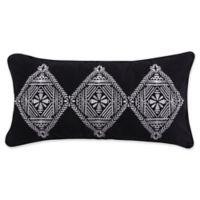 Levtex Home Nia Tri Diamond Rectangle Throw Pillow in Black/White