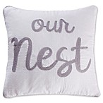 "Levtex Home Penelope Stripe ""Our Nest"" Throw Pillow"