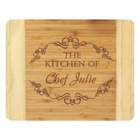 Stamp Out Kitchen of Chef 14-Inch x 11-Inch Bamboo Cutting Board