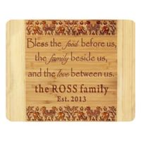 Stamp Out Bless the Food Before Us 14-Inch x 11-Inch Bamboo Cutting Board