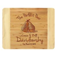 Stamp Out The Perfect Pear 11-Inch x 14-Inch Bamboo Cutting Board